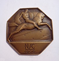 N S C 1906-os bronz plakett
