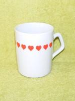 Zsolnay szívecskés porcelán bögre