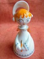 Hollóházi porcelán angyalka figura