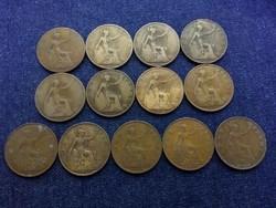 Anglia - V. György One Penny 13 db évszám gyűjtemény (id7753)