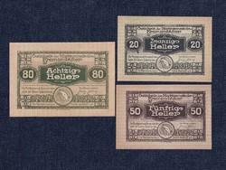 3 db osztrák szükségpénz 1920 (id7403)
