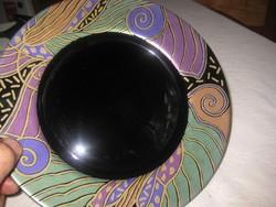 ARCOROC , francia , művészi   , lapos , üveg tányér  ,  250 mm