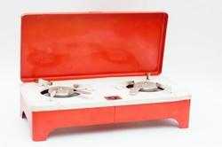 Fémipari Szövetkezet Szombathely gyártmányú hordozható kemping rezsó - főzőlap