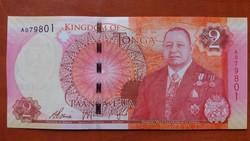 Tonga 2 Paanga UNC bankjegy 2015