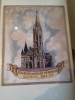 Budavári Mátyás Templom Újjáépül 1954-től