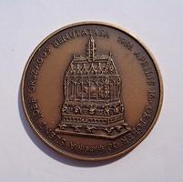 Bognár György, Államalapító királyunk halálának emlékére, bronz emlékérme