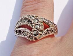 Markazit köves ezüst gyűrű