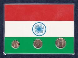 India - 10, 25, 50 paise UNC díszcsomagolásban (id7352)