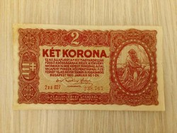 Két korona bankjegy 1920 (id3722)