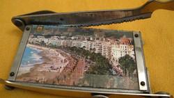 Régi fotóvágó, fényképvágó, papírvágó, papír guillotine, különleges, két funkciós!