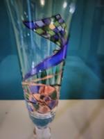 Pezsgő pohár tűzzománc díszítéssel 3db