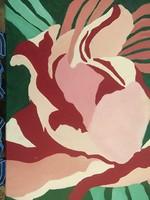 Óriás virágos falikép-poszter-nyomat hangulatos 60x40 cm