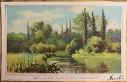 Csodás antik angol tájképes képeslap