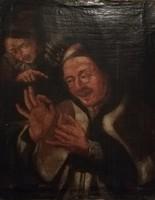 Antik festmény XVII. század. Eredeti Godfried Schalken 1643-1706. Méret:40x50cm