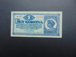 1 korona 1920 Hajtatlan bankjegy !!!