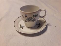 Hollóházi porcelán kávés csésze + alj