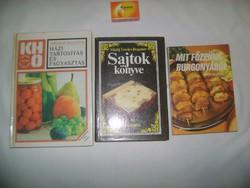 Retro szakácskönyv - három darab - 1983, 1989, 1989