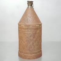 """...Budapesti Petróleumcsarnok Tulajdona"" fém petróleumtartó kanna (650)"