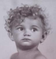 Egy bájos gyermek : Évike 1929.  - Dr Barabásné Földeák-Ibi fotó,fénykép,fotográfia, levelező-lap.