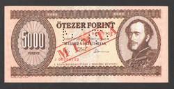 """5000 forint 1992. """"J"""".  MINTA!!  UNC!!"""