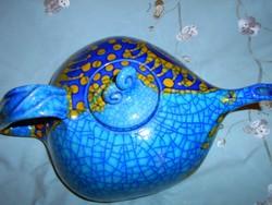 Képcsarnoknál vásárolt kerámia kancsó- látványos darab