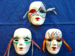 3 db karneváli, velencei maszk (dekoráció, fali dísz)