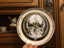 Hollóházi porcelán óra