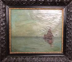 Szikszay Ferenc  1870-1908 antik olajfestmény