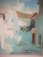 Mediterrán házak 70x80cm