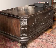 Neoreneszánsz íróasztal, dolgozószoba bútor
