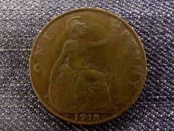 Anglia - V. György One Penny 1918 H (Heaton mint)/id 7961/
