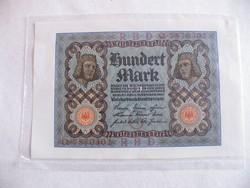 KK285 1920 100 Márka Mark szép fóliázott bankjegy