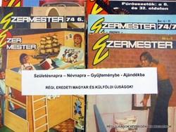 1977 április  /  Ezermester  /  SZÜLETÉSNAPRA RÉGI EREDETI ÚJSÁG Szs.:  7627