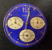 Szep Cartier jelzesü quartz kronograf szerkezet, szerelöknek