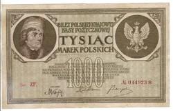 1000 marek 1919 Lengyelország