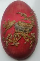 Húsvéti csokoládétartó papirmassé tojás, javításra szorul! mérete:21cmX13cmX15cm magas