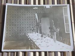 Katonai, Világháborús Tiszti étkezde 11x8 cm
