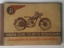 Danuvia-Csepel -125cm-es motorkerékpár használati és kezelési utasítása 1956 hátsó borító hiányos