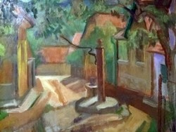 Molnár Róza képcsarnokos olaj festmény