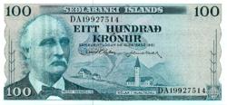 Izland 100 Korona 1961 UNC