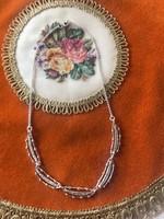 835-ös harcsa jeles ezüst nyaklánc markazitokkal