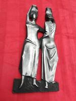 Vízhordó nők Szocreál szobor-falikép-relief -egyedi-különleges-ritka