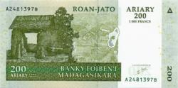 Madagaszkár  200 Francs (1000 Ariary) 2004 UNC