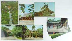 0W202 Színes nagyméretű Meiji Jingu képeslap 8 db