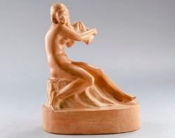 Kisfaludi Strobl Zsigmond (1884-1975) Reggel, terrakotta kerámia kisplasztika szobor