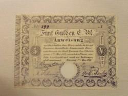 Temesvár 5 gulden 1849 MÁSOLAT