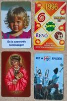 Kártyanaptárak ( 90-es évek vége, főleg ) 21 db