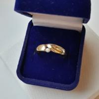 Köves 8k arany gyűrű (jelölve)