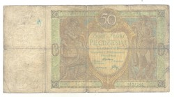 50 zloty zlotych 1929 Lengyelország