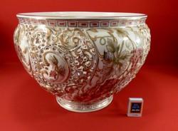 Zsolnay kaspó, váza gyönyörű és óriási. Az új ára 1/3 áráért